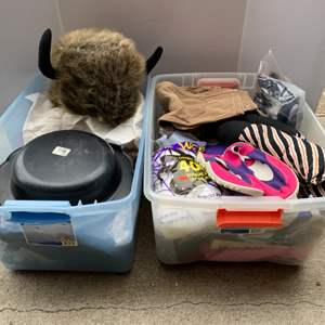 Lot #114 - Two Tubs Full of Costumes and Accessories