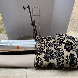Lot #117 - Decorative Pillows, Towel Bars, Window Shades and Small Amount of Flooring
