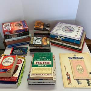 Lot #119 - Small Lot of Books: Novels, Health and Geography
