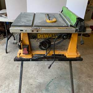 Lot #139 - DeWalt Table Saw with Folding Stand