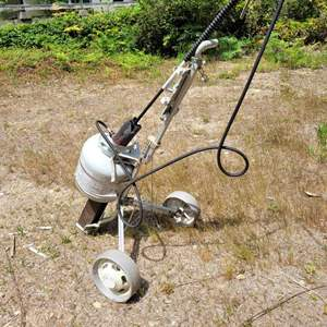 Lot #141 - Home Fashioned Weed Burner on Golf Cart