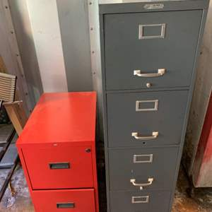Lot #147 - Four Drawer and Two Drawer Metal File Cabinets