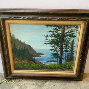 """Lot #161 - Signed May Ann Rock Framed Scenic Wall Art 28"""" x 24"""""""