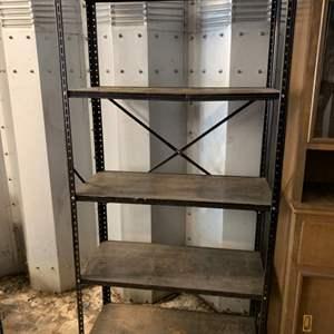 Lot #179 - Four Shelf Lightweight Metal Unit