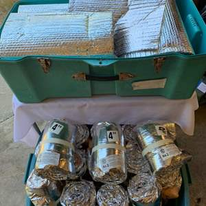"""Lot #181 - Two Bins of 4"""" Pipe and Equipment Covering"""