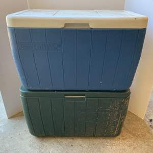 Lot #185 - Two Coleman Coolers