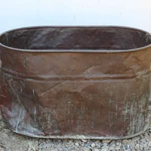Lot #188 - Large  Vintage Copper Tub