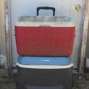 Lot #197 - Igloo and Coleman Coolers
