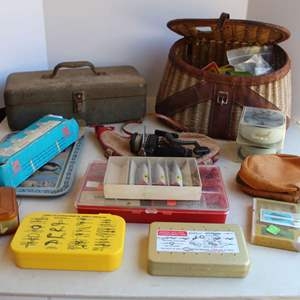 Lot #216 - Large Selection of Fishing Supplies, Some Vintage