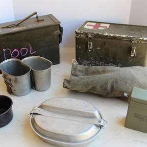 Lot #217 - Vintage Military Supplies