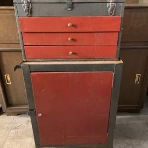 Lot #219 - Vintage Tool Chest on Rollers