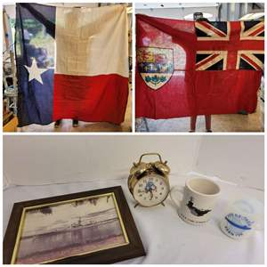 Lot #224 - Vintage Flags and Military Memorabilia
