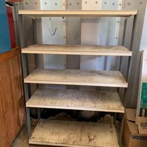 """Lot #228 - Metal Storage Shelving 32"""" x  17"""" x  53"""""""