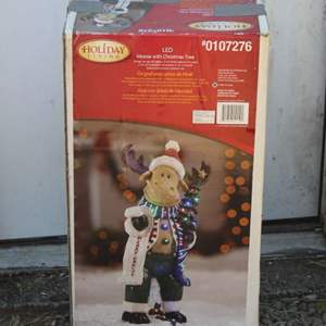 Lot #237 - Holiday Living LED Outdoor Moose with Christmas Tree