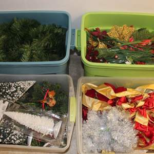 Lot #239 - Boxes of Beautiful Holiday Decorations