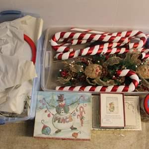 Lot #240 - Variety of Christmas Decor