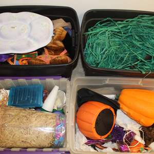 Lot #241 - Boxes of Halloween Decorations