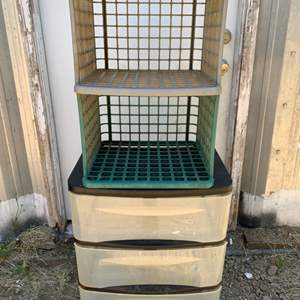 Lot #245 - Plastic Crates and Storage Units