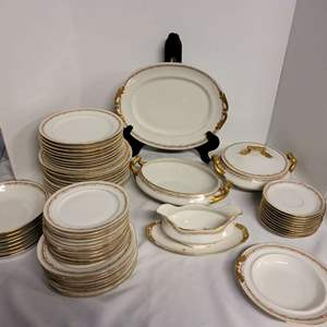 Lot #248 - Vintage Limoges Gold Rimmed China, See Description for Pieces