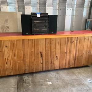 Lot #256 - Long Cabinet/Bar with Electric Outlet