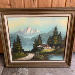Lot #257 - Beautiful Framed and Signed Mountain Scene