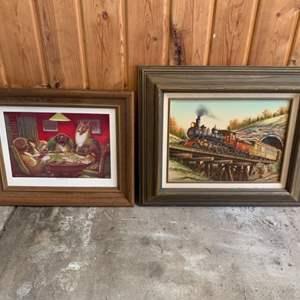 Lot #259 - Two Wood Framed Prints