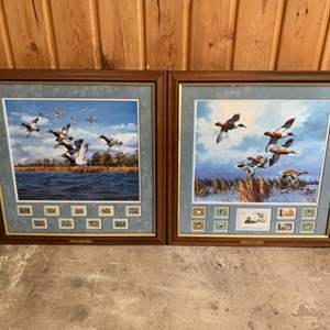 """Lot #260 - Framed and Matted """"Midday Flight"""" and """"Late Comers"""" by David Maass"""