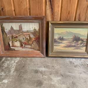 Lot #261 - Vintage Framed Wall Art