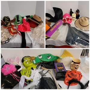 Lot #268 - Fun Halloween Decor and Dress Up