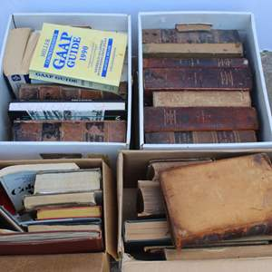 Lot #272 - Boxes Full of Books, Some Vintage, Documentary History Of The Constitution Of The United States and More