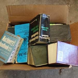 Lot #273 - Box Full of Vintage Machinery and Mechanics Books