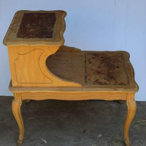 Lot #276 - Vintage Wood Side Table, Waiting to be Your Next Restoration Project
