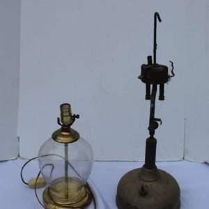 Lot #283 - Vintage Lamps, No Shades