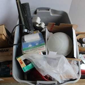 Lot #285 - Miscellaneous House Goods: Light Fixture, Carbon Monoxide Alarm and More