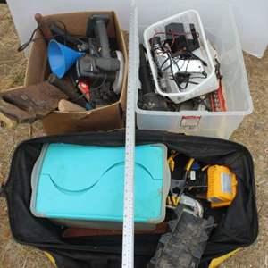 Lot #286 - Shop Tools: Level, Saw, Machete, Screwdrivers, More