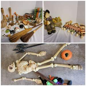 Lot #293 - Fun Selection of Fall and Halloween Decorations