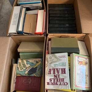 Lot #299 - Books: 1891 J. Fennimore Cooper Works Set, Vintage and Newer Books, All Genres