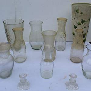 Lot #301 - Clear Glass Vases