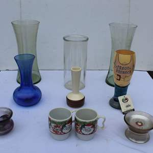 Lot #302 - Assortment of Vases and Cups