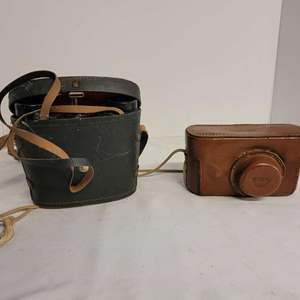 Lot #308 - Vintage 35mm Argus Camera and Leather Case and Sans & Streiffe Binoculars 8x30