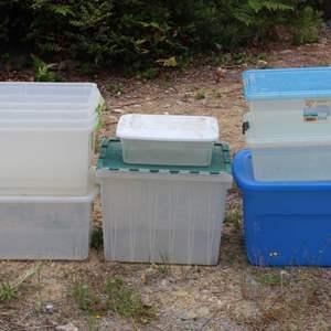 Lot #314 - Selection of Plastic Storage Bins