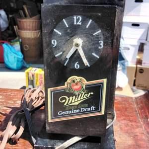 Lot #6-D:  Vintage MGD Miller Beer Clock for parts