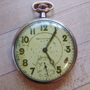Lot 11-D:  Antique 10K Gold Studebaker Pocket Watch by South Bend WORKS ~Acid Tested