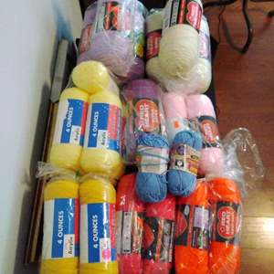 Lot #26-L - Large Yarn Lot of 24 New Skeins