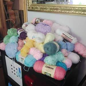 Lot #30 - Huge Yarn Lot #2  with the Bin and Lid