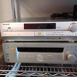 Lot #34CM - SONY and Panasonic Audio/Video Theater Sound Components