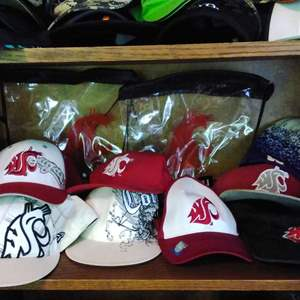 Lot #40CM - Over 20 items WSU and Others Ball Caps Hat Lot New & Used