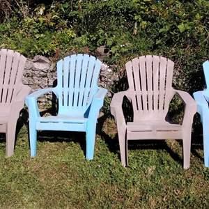 Lot #66 - Plastic Andirondeck Chairs
