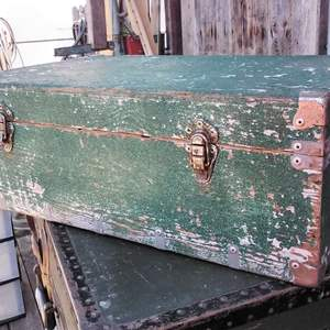 Lot #80-L:  Old Wooden Trunk
