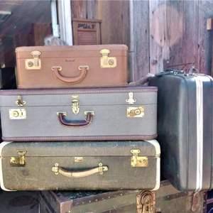 Lot #81-L:  Vintage Suitcase Lot of 4